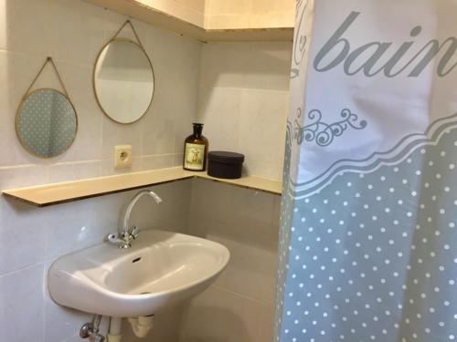 salle de bain du gîte Orchidée dans les Pyrénées Orientales