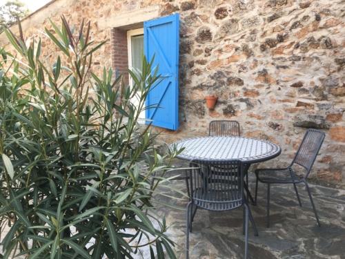 terrasse du gîte Campsis