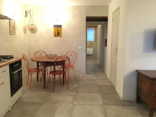 cuisine équipée dans gîte en occitanie