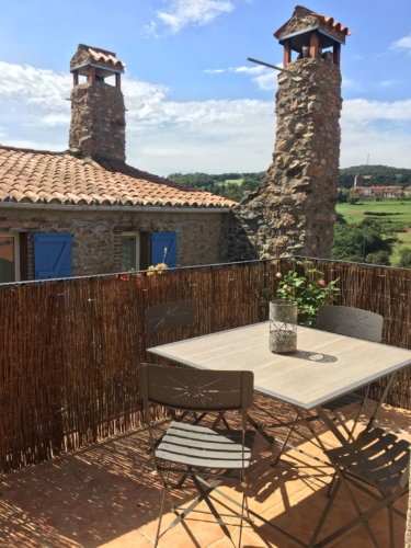 gîte avec terrasse privative et vue panoramique