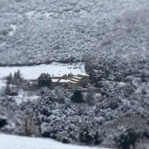le Mas Picagnol sous la neige catalane