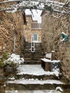 le gîte Jasmin sous la neige